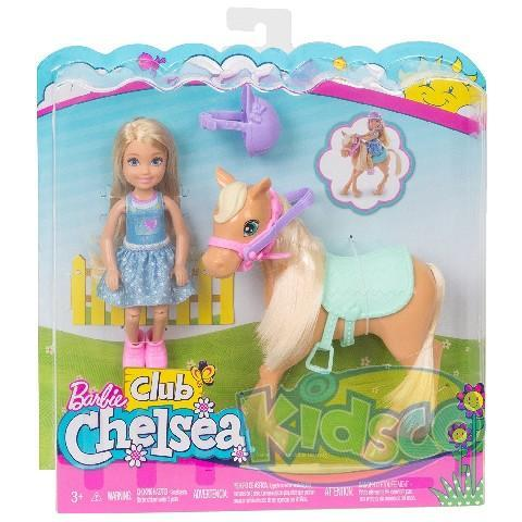 "Barbie set ""Chelsea cu Pony"""