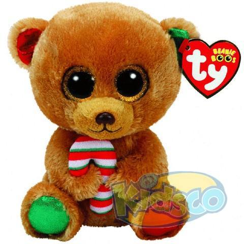 BB BELLA - brown bear with candy cane 15 cm