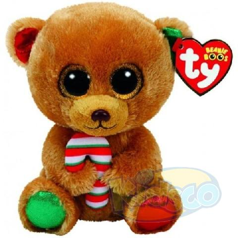 BB BELLA - brown bear with candy cane 24 cm