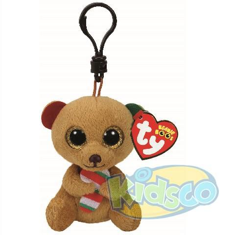 BB BELLA - brown bear with candy cane 8,5 cm