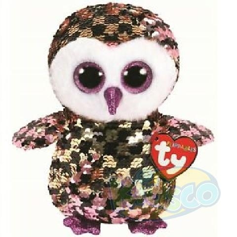 BB Flippables CHECKS - black/pink/gold owl 15 cm
