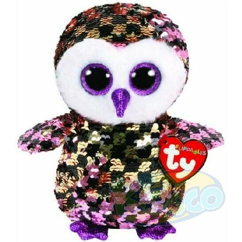 BB Flippables CHECKS - pink-black owl 24 cm
