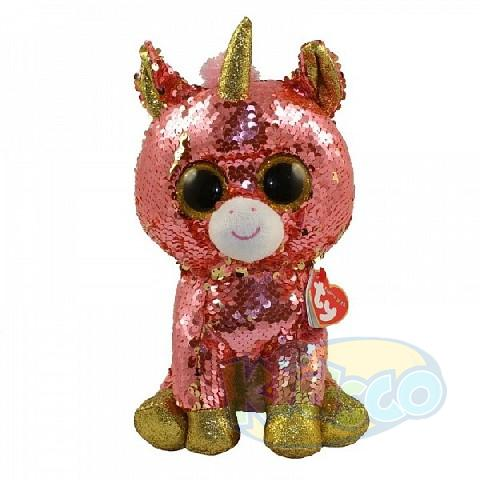 BB Flippables SUNSET - coral unicorn 24 cm