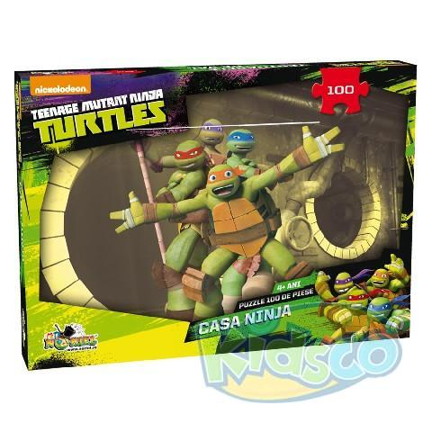 Casa Ninja - Puzzle 100 piese Teenage Mutant Ninja Turtles