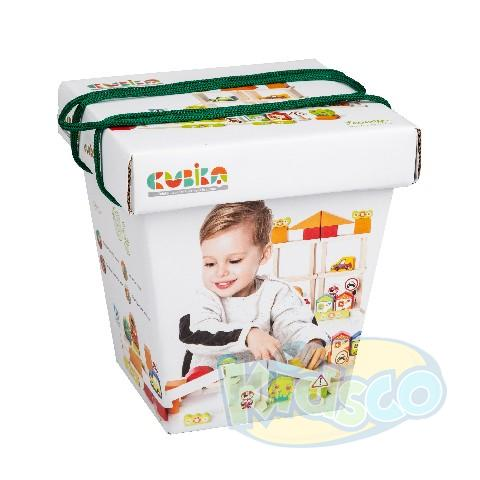 "Cubika Constructor ""Town for boys"" 55 el."