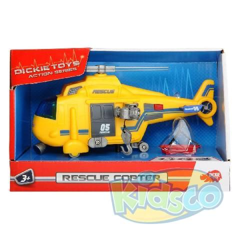 "Dickie auto ""Helicopter"" sunet&lumina 18 cm"