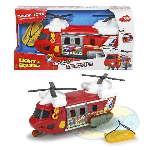 "Dickie auto ""Riscue helicopter ""sun.lum30 cm"