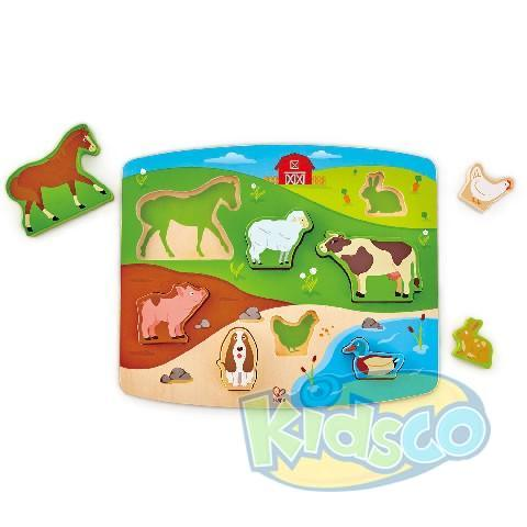HAPE-FARM ANIMAL PUZZLE&PLAY