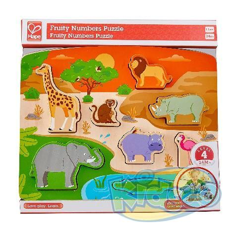 HAPE-WILD ANIMAL PUZZLE&PLAY