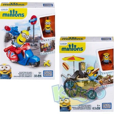 Mega Bloks Minions Flying Hot Dogs/Scooter Escape