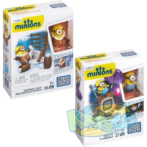 Mega Bloks Minions Silly Tv/Snowball Fight