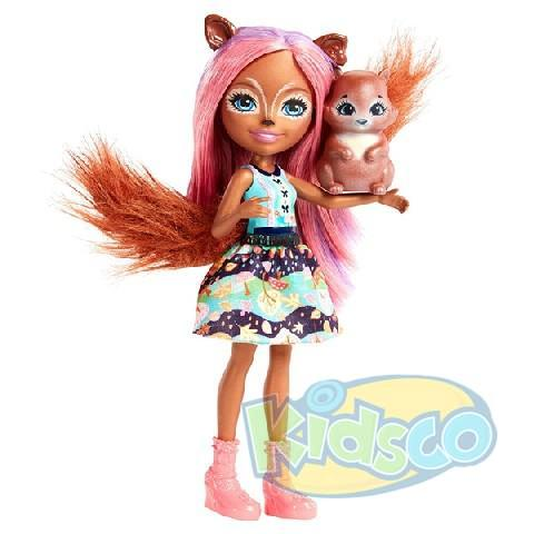 Papusa Enchantimals Sancha Squirrel