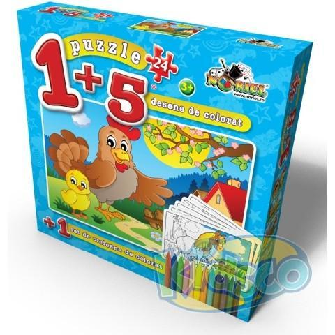 PUZZLE COLOREAZA-MA 24 PCS 3