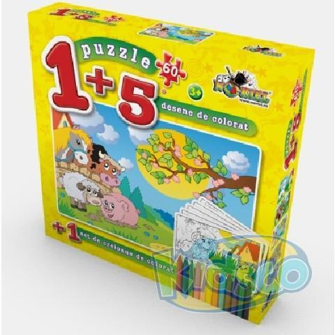 PUZZLE COLOREAZA-MA 60 PCS 3
