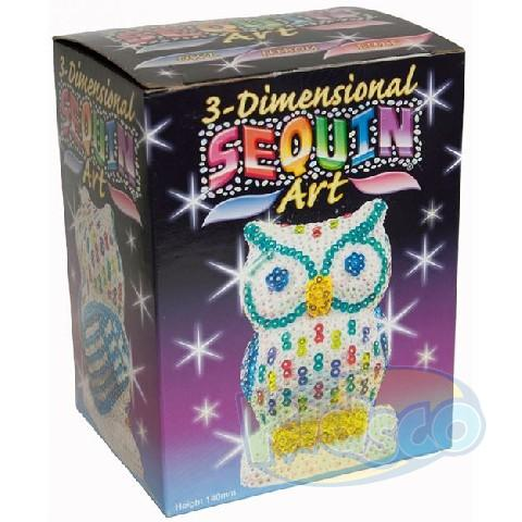 SEQUIN ART - 3D NEW OWL