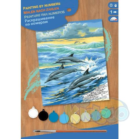 SEQUIN ART PAINTING BY NUMBERS - DOLPHINS