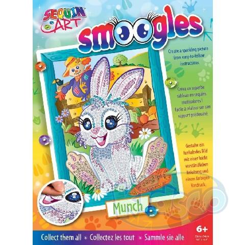 SEQUIN ART - SMOOGLES BUNNY (MUNCH)