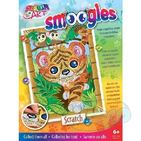 SEQUIN ART -SMOOGLES TIGER (SCRATCH)