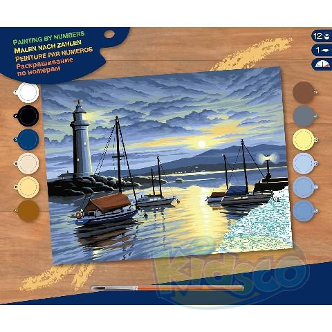 SEQUIN PAINTING BY NUMBERS-HARBOUR AT SUNRI