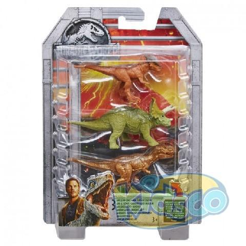 "Set 3 Dino figurine ""Jurassic World 2"" ast"