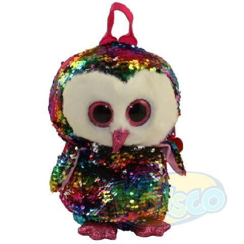 TF Sequins OWEN - owl 25 cm (backpack)