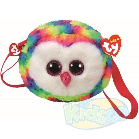 TG OWEN - multicolor owl 15 cm (shoulder bag)