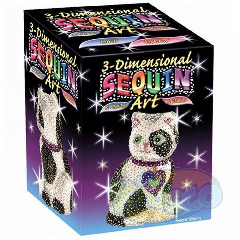 SEQUIN ART - 3D CAT