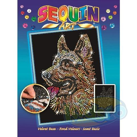 SEQUIN ART BLUE - GERMAN SHEPHERD