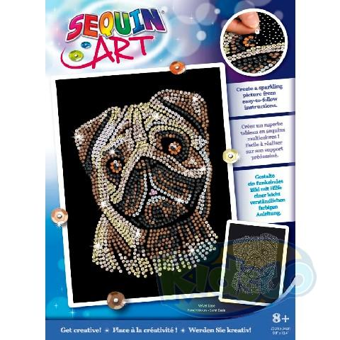 SEQUIN ART BLUE - PUG