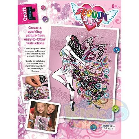 SEQUIN ART - CRAFT TEEN FAIRY