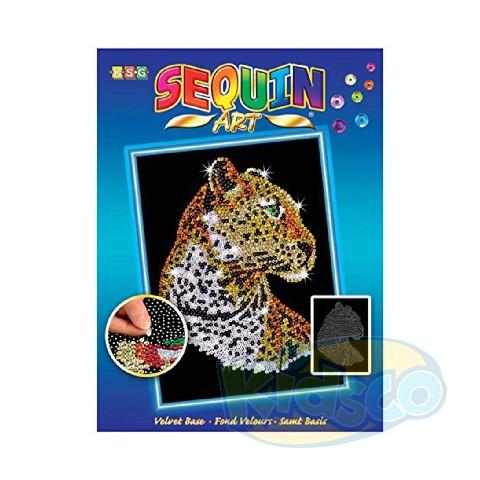 SEQUIN ART - LEOPARD