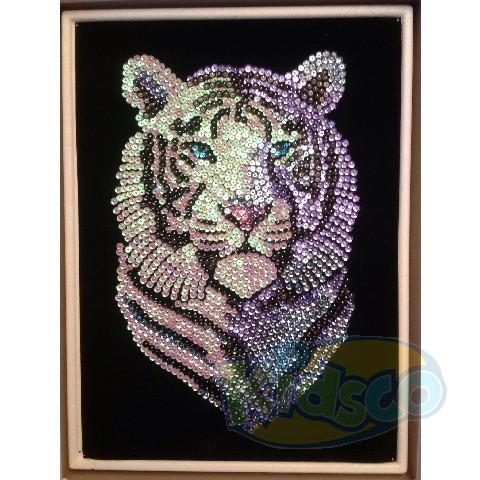 SEQUIN ART ORIGINAL - SNOW TIGER