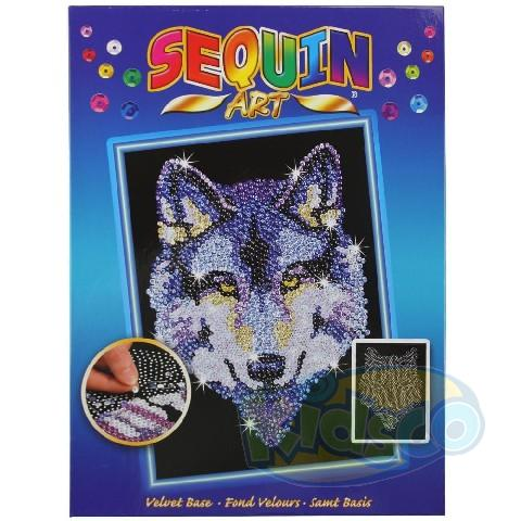 SEQUIN ART ORIGINAL - WOLF