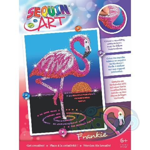 SEQUIN ART RED - FRANKIE FLAMINGO