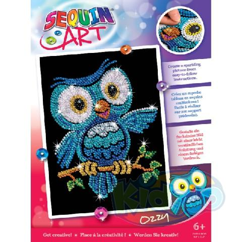 SEQUIN ART RED - OZZY OWL