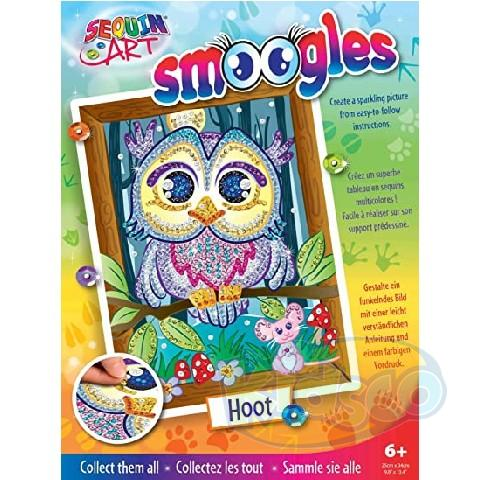 SEQUIN ART - SMOOGLES OWL (HOOT)