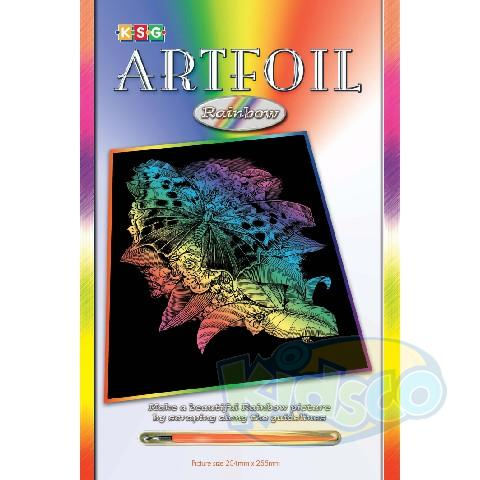 SEQUIN ARTFOIL - RAINBOW BUTTERFLY
