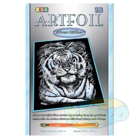 SEQUIN ARTFOIL - SILVER WHITE TIGER